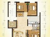 上风上水领地_3室2厅1卫 建面105平米