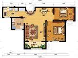 凯旋大道_2室2厅1卫 建面84平米