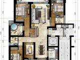 海航万绿园1号_4室2厅3卫 建面208平米