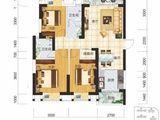 现代美居_3室2厅2卫 建面107平米