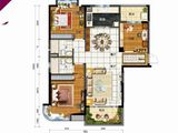 碧桂园太阳城_3室2厅2卫 建面130平米