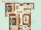 祝福红城_2室2厅1卫 建面77平米