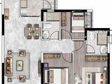 恒大悦珑台_3室2厅2卫 建面101平米
