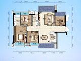 交投地产阳光100新叶城_4室2厅2卫 建面111平米